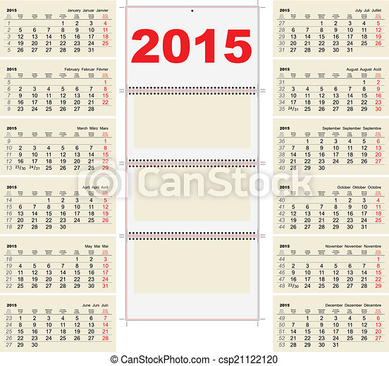 Quarterly Calendar Template Illustration In Vector  Vector