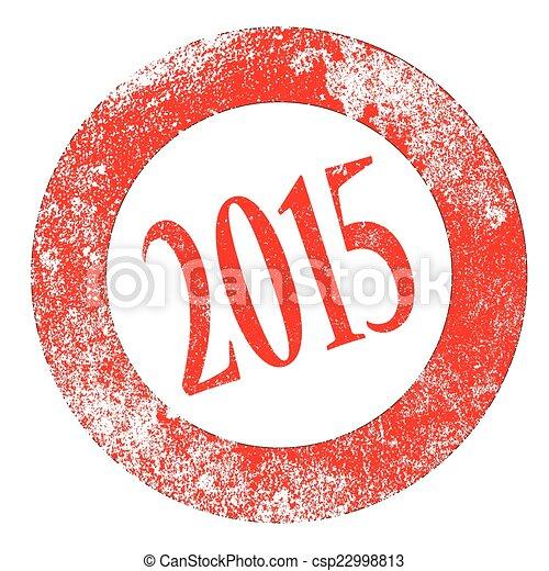2015 Rubber Stamp - csp22998813