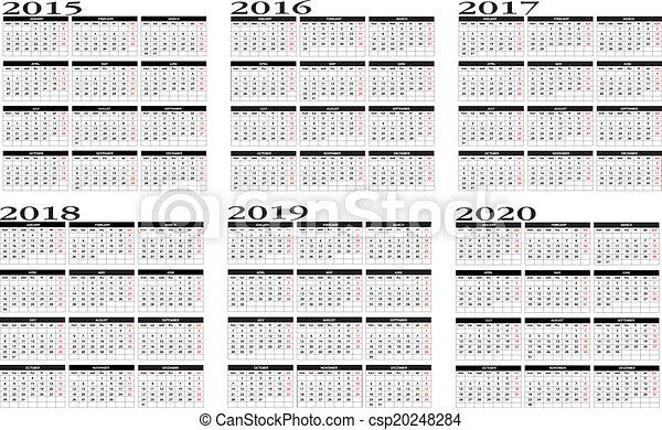 2015  to 2020 calendar - csp20248284