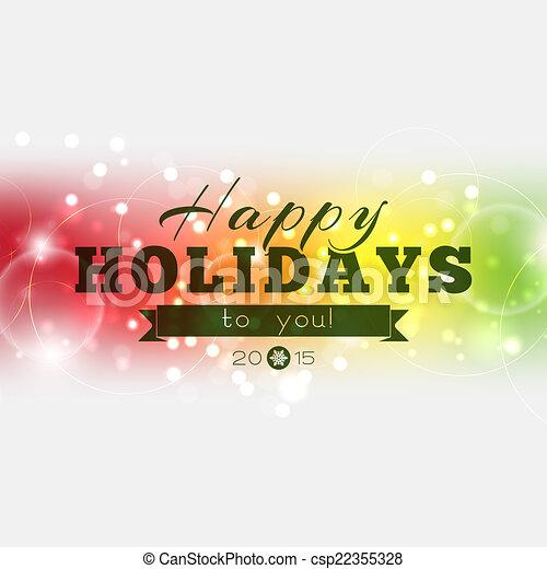 2015, tu, feliz, feriados - csp22355328