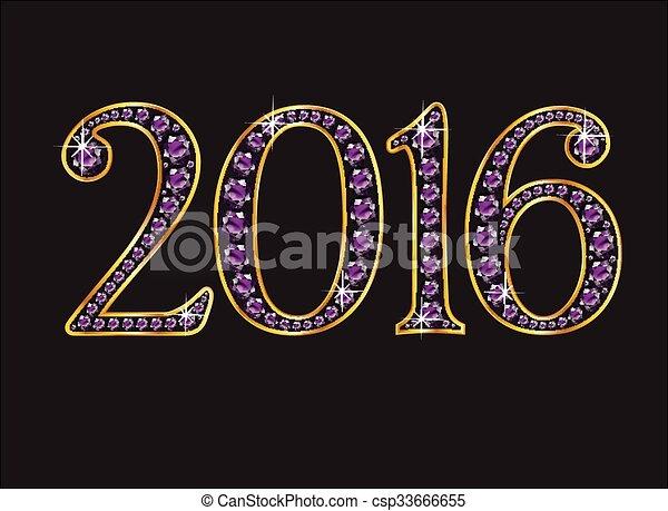 2016, ametista, gioielli - csp33666655