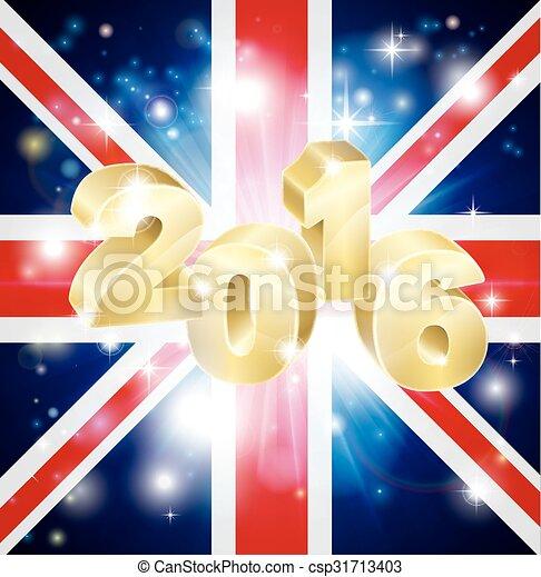 2016, bandiera, concetto, britannico - csp31713403