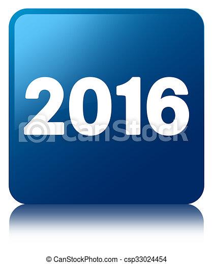 2016 Blue square button - csp33024454
