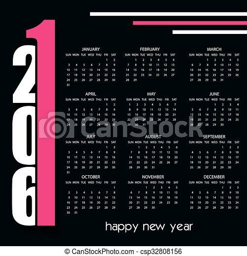 2016 Creative Calendar Design Template Clipart Vector Search