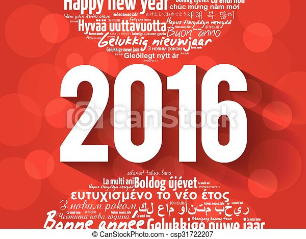 2016 happy new year in different languages celebration word cloud 2016 happy new year in different languages csp31722207 m4hsunfo