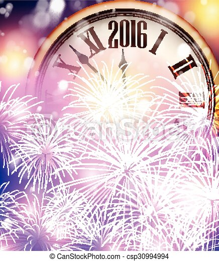 2016 New Year background.  - csp30994994
