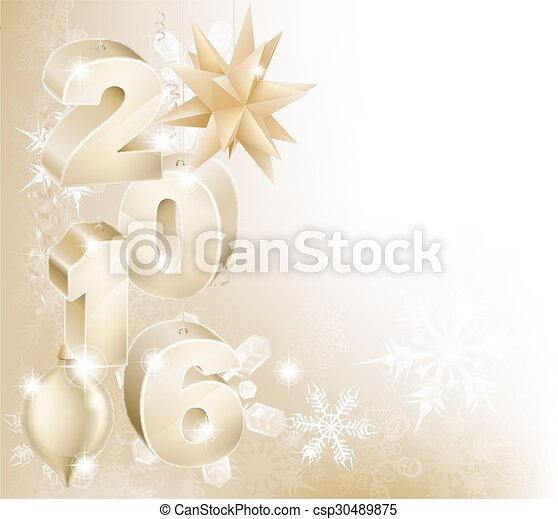 2016 new year christmas decorations background csp30489875