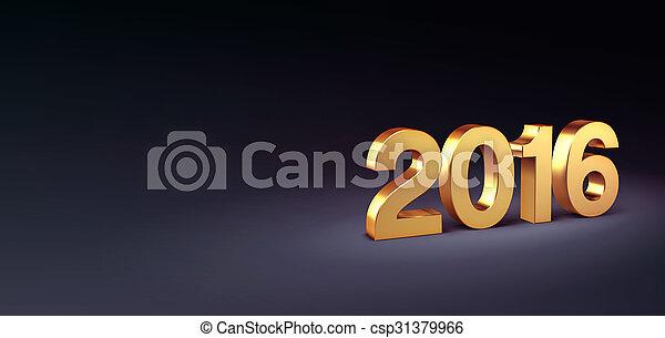 2016, powitanie karta - csp31379966