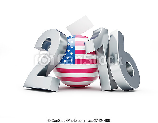 2016, präsidenten-, wahl, usa - csp27424489