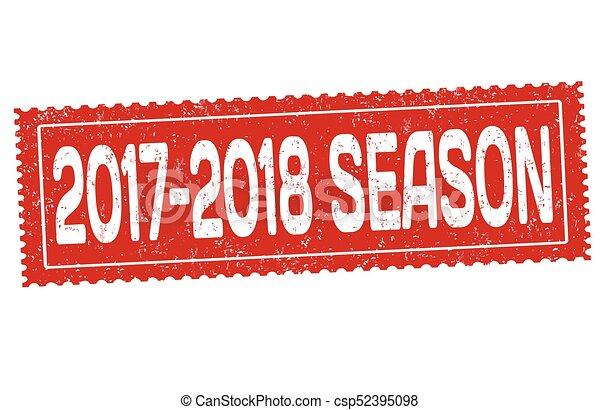 2017-2018 season grunge rubber stamp - csp52395098