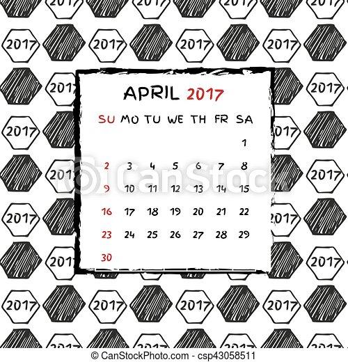 Calendario inglés 2017. - csp43058511