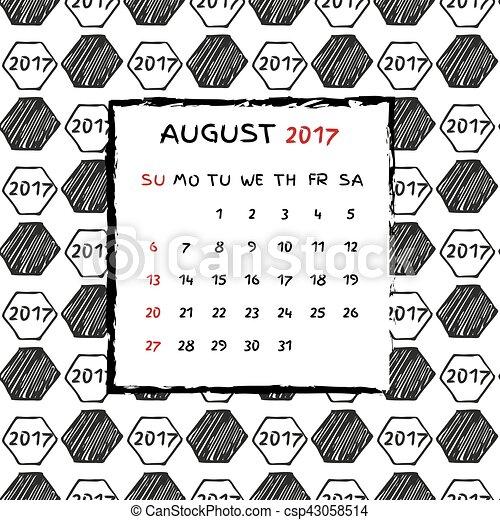 Calendario inglés 2017. - csp43058514