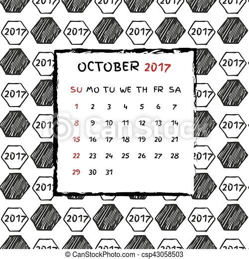 Calendario inglés 2017. - csp43058503