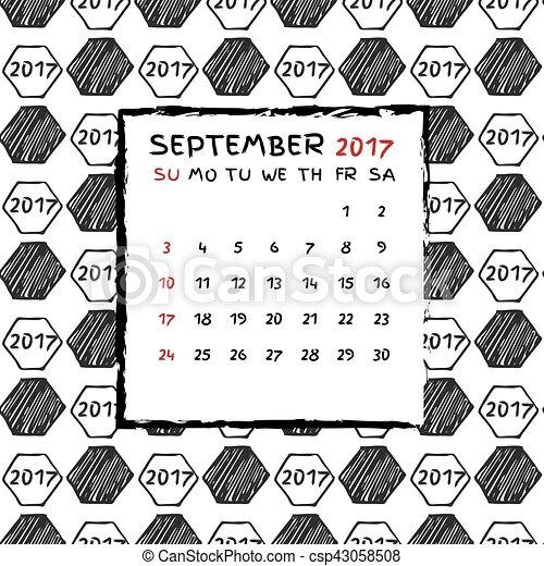 Calendario inglés 2017. - csp43058508