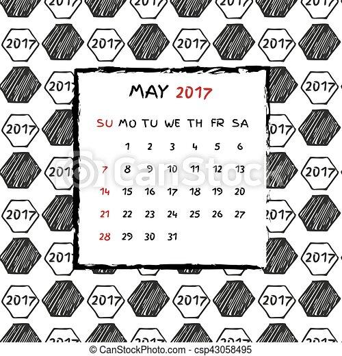 Calendario inglés 2017. - csp43058495