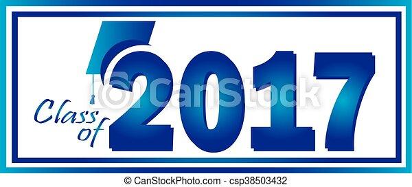 2017, classe, graduazione - csp38503432