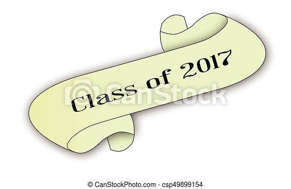 2017, classe, rotolo - csp49899154