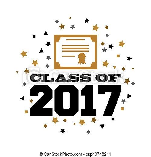 2017, classe, scheda - csp40748211