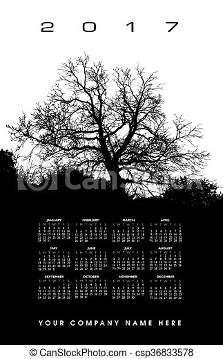 2017 creative tree calendar csp36833578