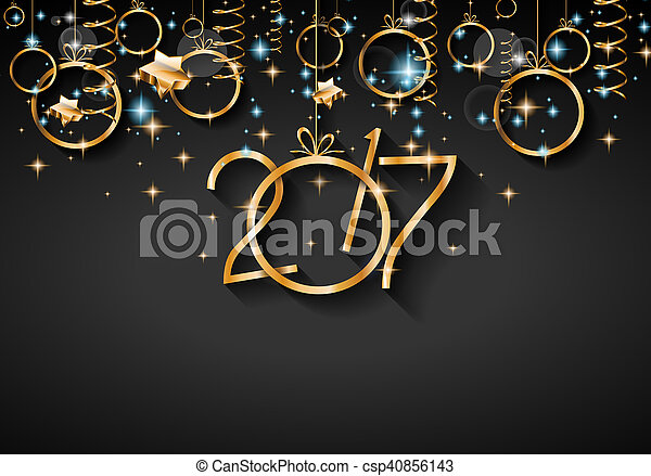 2017 happy new year background for your seasonal flyers and greetings card or christmas themed invitations