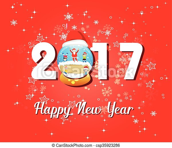 2017 happy new year greetings card csp35923286