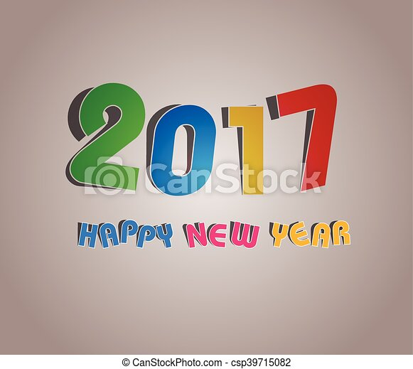 2017 happy new year greetings card vector search clip art 2017 happy new year greetings card csp39715082 m4hsunfo