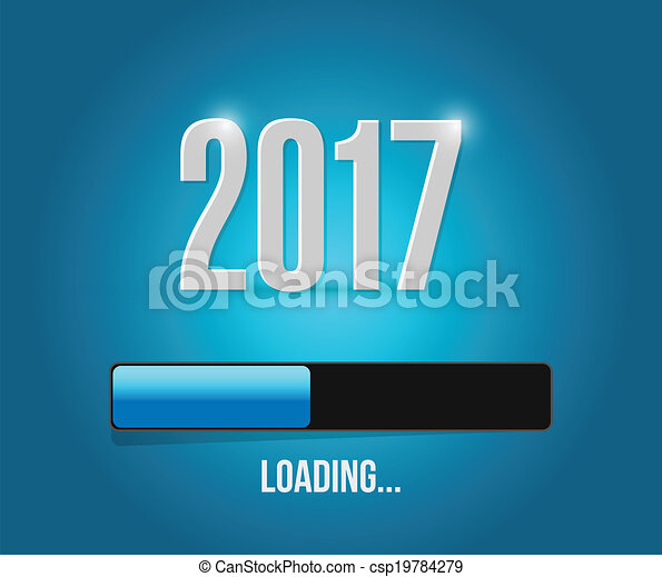 2017 loading year bar illustration design - csp19784279