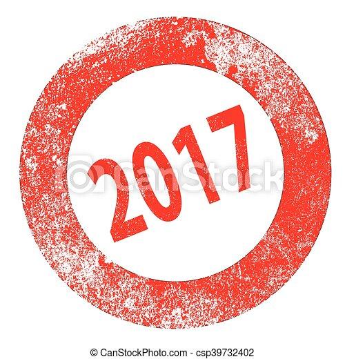 2017 Rubber Stamp - csp39732402