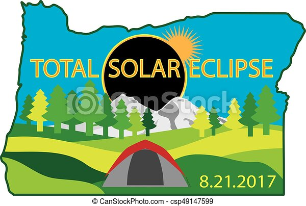 2017 Total Solar Eclipse Camping Trip Map - csp49147599