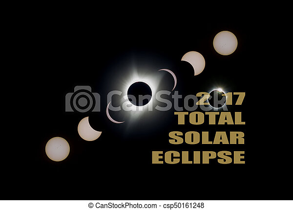 2017 Total Solar Eclipse Phases - csp50161248