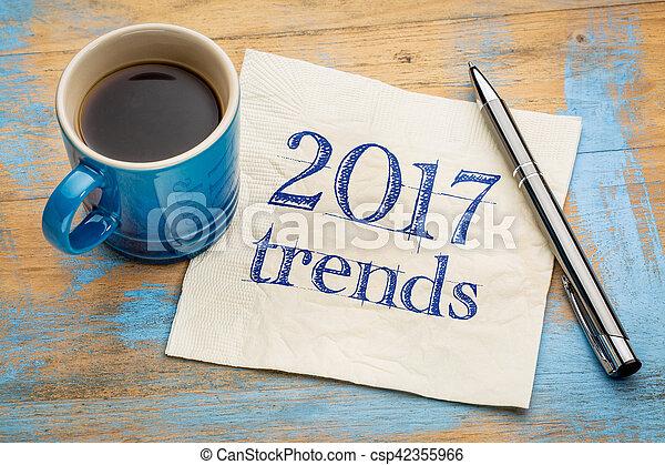 2017 trends concept on napkin - csp42355966