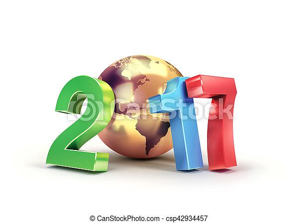 2017 Worldwide greeting symbol - csp42934457
