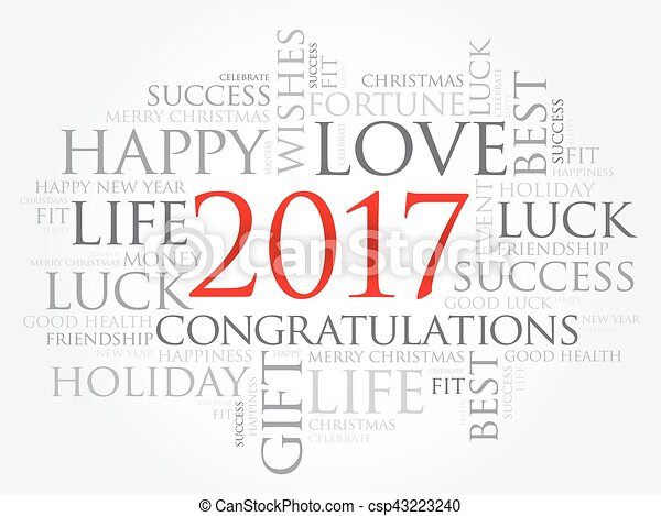2017 year greeting word cloud collage happy new year eps vector 2017 year greeting word cloud collage vector m4hsunfo Image collections