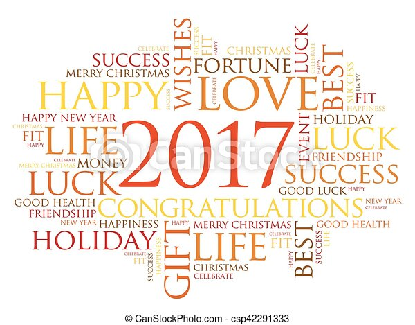 2017 year greeting word cloud collage happy new year vectors 2017 year greeting word cloud collage csp42291333 m4hsunfo Image collections