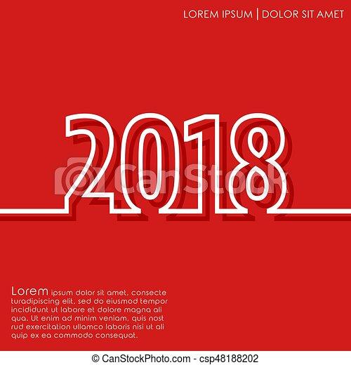 Año nuevo 2018 - csp48188202