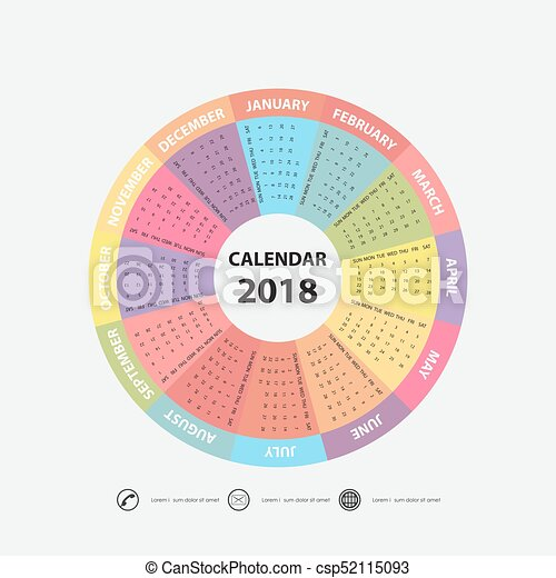 circle calendar template