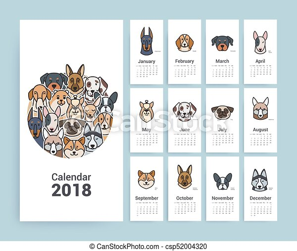 Calendario de diseño 2018. - csp52004320