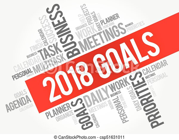 2018 Goals word cloud - csp51631011