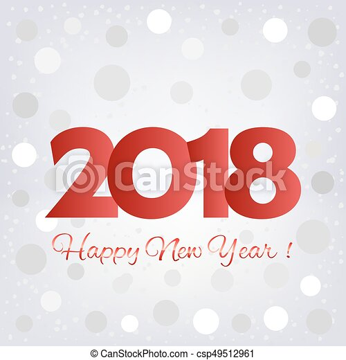 2018 happy new year background csp49512961