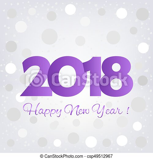 2018 happy new year background csp49512967