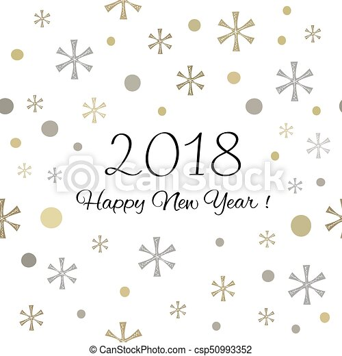 2018 happy new year background csp50993352