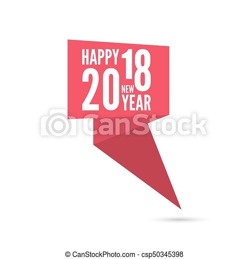 2018 happy new year background csp50345398