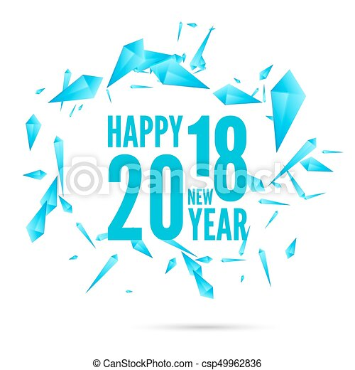 2018 happy new year background csp49962836