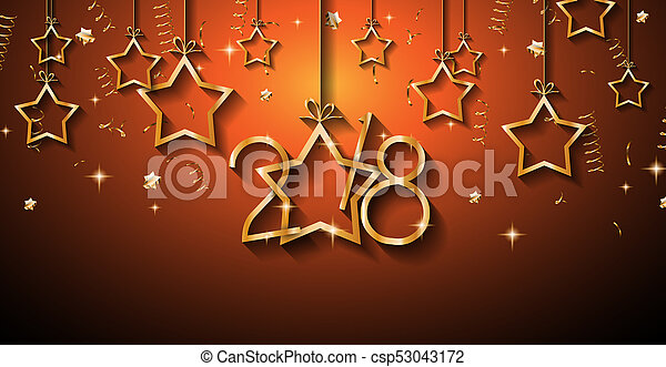 2018 happy new year background for your seasonal flyers and greetings card csp53043172