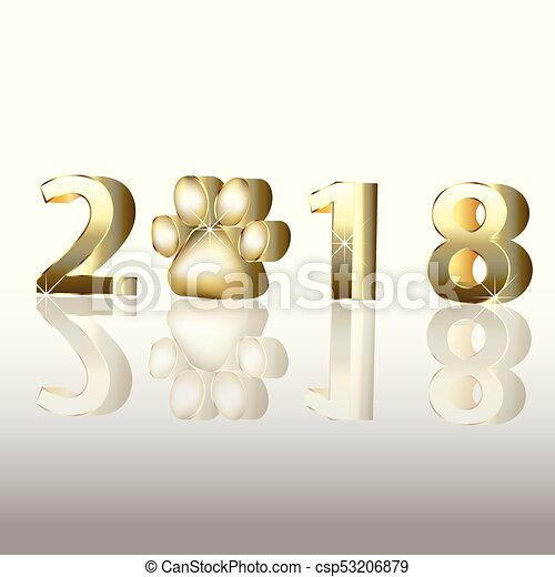 2018 happy new year greetings card invitation image template.