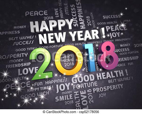 2018 Happy New Year !   Csp52178056