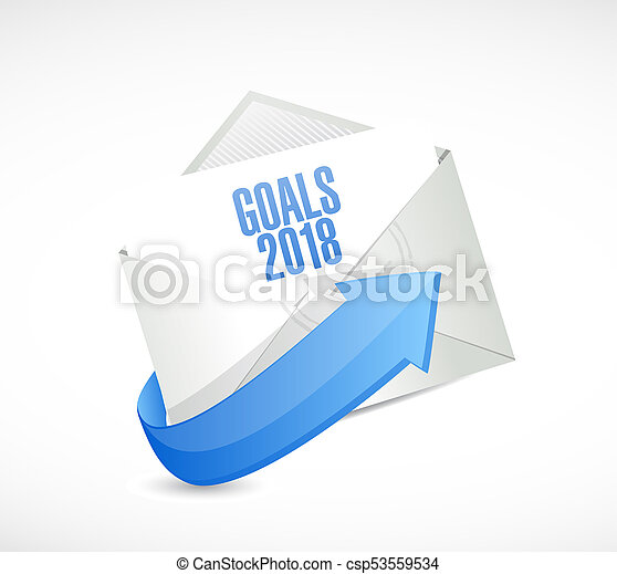 2018 letter goals illustration design - csp53559534