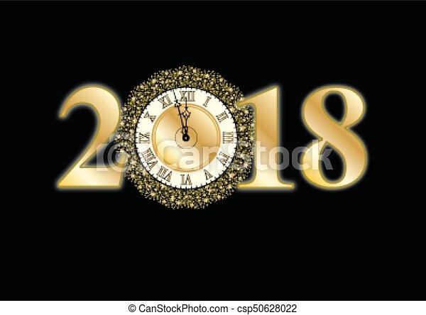 2018 new year - csp50628022