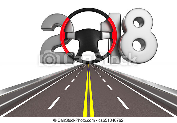 2018 new year. Isolated 3D illustration - csp51046762