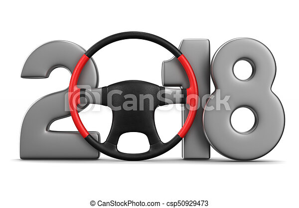 2018 new year. Isolated 3D illustration - csp50929473